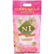 №1 CRYSTALS Sakura наполнитель cиликагелевый c ароматом сакуры