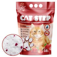 Купить Cat Step силикагелевый наполнитель с ароматом клубники
