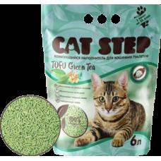 Cat Step Tofu Green Tea комкующийся наполнитель из спрессованных соевых волокон, уничтожает неприятные запахи, прост в уборке и использовании