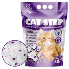 """Cat Step наполнитель для кошачьих туалетов  """"Лаванда"""", силикагелевый впитывающий"""