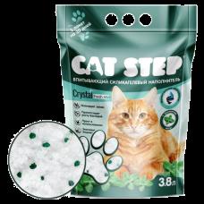 Купить Cat Step Crystal Fresh Mint силикагелевый наполнитель с ароматом свежей мяты