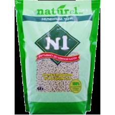 №1 Naturel Зеленый чай наполнитель древесный комкующийся
