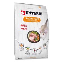 Ontario Cat Shorthair сухой корм для короткошерстных кошек, с курицей и уткой