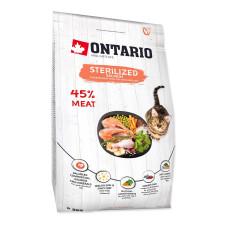 Ontario Cat Sterilised Salmon сухой корм для стерилизованных кошек, с лососем