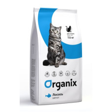 Organix Adult Cat Fresh Salmon сухой корм для кошек с чувствительным пищеварением, со свежим лососем