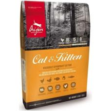 Orijen Cat & Kitten беззерновой корм для котят и взрослых кошек с цыпленком