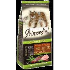 Primordial Grain Free Cat Adult Duck Turkey беззерновой сухой корм класса холистик для взрослых кошек с уткой и индейкой