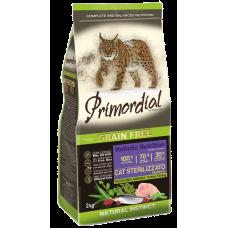 Primordial Grain Free Cat Neutered Turkey Farring беззерновой сухой корм класса холистик для стерилизованных кошек и кастрированных котов с индейкой и сельдью