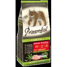 Купить Primordial Grain Free Cat Urinary Turkey Farring беззерновой сухой корм класса холистик с индейкой и сельдью для кошек с мочекаменной болезнью