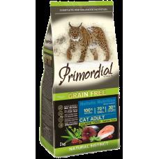 Купить Primordial Grain Free Cat Adult Salmon Tuna беззерновой сухой корм класса холистик для взрослых кошек с лососем и тунцом