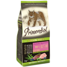 Купить Primordial Grain Free Kitten Duck Turkey беззерновой сухой корм класса холистик для котят с уткой и индейкой