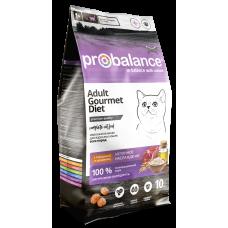 Probalance Gourmet Diet сухой корм для взрослых кошек с говядиной и кроликом