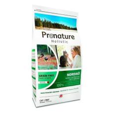 Pronature Holistic Grain Free Nordiko «Северная диета» полноценный беззерновой сухой корм с индейкой для кошек