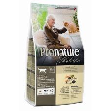 Купить Pronature Holistic Senior облегченный сухой корм для пожилых кошек от 10 лет (с океанической белой рыбой и рисом)