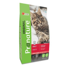 Купить Pronature Original NEW сухой корм с курицей и ягненком для взрослых кошек