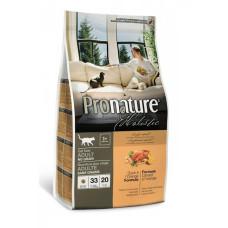 Pronature Holistic Adult беззерновой сухой корм для кошек (с уткой и апельсином)