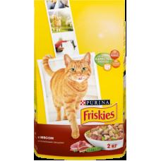 Купить Friskies сухой корм для взрослых кошек с мясом и полезными овощами