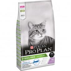 PRO PLAN Sterilised 7+ сухой корм с индейкой для стерилизованных кошек старше 7 лет