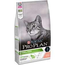 PRO PLAN Sterilised сухой корм для стерилизованных кошек и кастрированных котов, с лососем