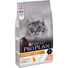 Купить Pro Plan Elegant Adult сухой корм для поддержания красоты шерсти и здоровья кожи, с лососем