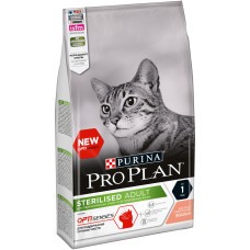Purina Pro Plan Sterilised сухой корм для стерилизованных кошек и кастрированных котов (для поддержания органов чувств), с лососем