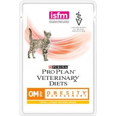 Консервированный корм Pro Plan Veterinary diets OM, корм для кошек при ожирении, с курицей, 85гр