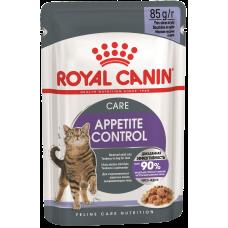 Купить Royal Canin Appetite Control Care (в желе, пауч) влажный корм для взрослых кошек, для контроля выпрашивания корма