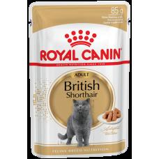 Royal Canin British Shorthair Adult (в соусе,пауч) влажный корм для кошек британской короткошерстной породы старше 12 месяцев