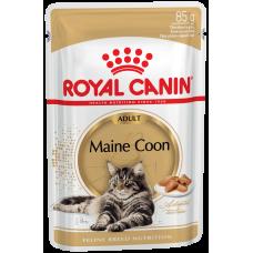 Royal Canin Main Coon Adult (в соусе,пауч) влажный корм для кошек породы Мейн-Кун старше 15 месяцев