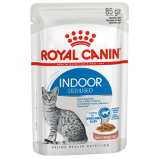 Купить Royal Canin Indoor Sterilized (в соусе, пауч) влажный корм для стерилизованных кошек (в возрасте от 1 года до 7 лет), постоянно живущих в помещении
