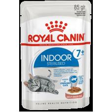 Royal Canin Indoor Sterilized 7+ (в соусе, пауч) влажный корм для стареющих стерилизованных кошек (в возрасте от 7 до 12 лет), живущих в помещении