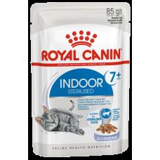 Купить Royal Canin Indoor Sterilized 7+ (в желе, пауч) влажный корм для стареющих стерилизованных кошек (в возрасте от 7 до 12 лет), живущих в помещении