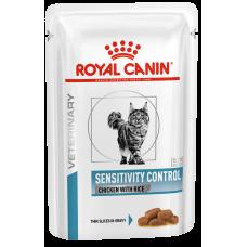 Royal Canin Sensitivity Control Chicken with Rice (кусочки в соусе,пауч) диета для кошек при пищевой аллергии, непереносимости