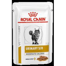 Купить Royal Canin Urinary S/O Moderate Calorie (в соусе, пауч) диета для кошек (после стерилизации/кастрации или склонных к лишнему весу) при мочекаменной болезни
