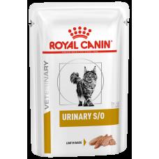 Купить Royal Canin Urinary S/O Feline (паштет, пауч) ветеринарная диета для кошек при мочекаменной болезни