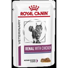 Купить Royal Canin Renal With Chicken диета для кошек с курицей рекомендована при хронической почечной недостаточности