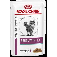 Купить Royal Canin Renal With Fish диета для кошек с рыбой рекомендована при хронической почечной недостаточности