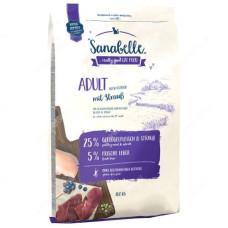Sanabelle Adult Ostrich для взрослых кошек преимущественно домашнего содержания с мясом страуса