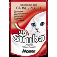 Simba Cat con Carne e Piselli (пауч) влажный корм с мясом и горохом для кошек 100 гр