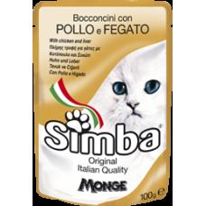 Simba Cat con Pollo e Fegato (пауч) влажный корм с курицей и печенью для кошек 100 гр