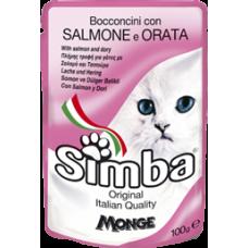 Simba Cat con Salmone e Orata (пауч) влажный корм с лососем и камбалой для кошек 100 гр