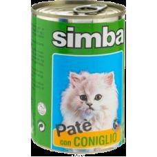 Simba Cat Pate con Coniglio (банка) влажный корм паштет из кролика для кошек 400 гр