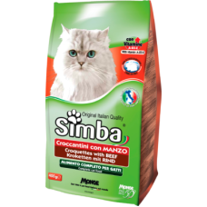 Купить Simba Cat сухой корм для взрослых кошек всех пород с говядиной