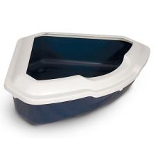 CT03 Туалет для кошек угловой с бортом, 565*425*150мм