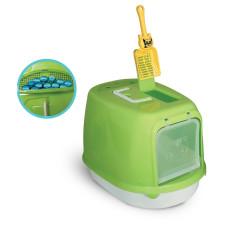 Туалет P658 для кошек закрытый (совок в комплекте), 500*350*340мм