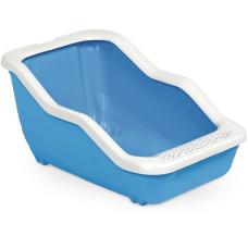 MPS туалет-лоток NETTA Open 54х39х29h см с рамкой голубой, коричневый, салатовый