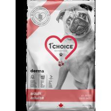 1st Choice Derma Adult All Breeds сухой корм с лососем для взрослых собак всех пород с гиперчувствительной кожей