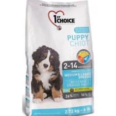 1st Choice Puppy Medium & Large сухой корм с курицей для щенков средних и крупных пород