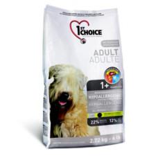 Купить 1st Choice Adult Hypoallergenic гипоаллергенный беззерновой сухой корм с уткой и картофелем для собак всех пород