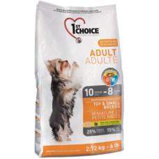1st Choice Adult Toy&Small Breeds сухой корм с курицей для собак миниатюрных и мелких пород